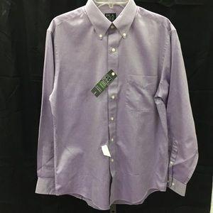 NWT Jos ABank Traveler's Collection Lavender Shirt